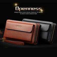 bcbe11b222 item 3 Mens Leather Long Wallet Purse Business Bag Phone ID Card Holder Clutch  Handbag -Mens Leather Long Wallet Purse Business Bag Phone ID Card Holder  ...