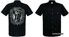 Camisa De Trabajo negro Sudaca Vintage Tatuaje y Gothikmotiv Modelo Piel sudaca