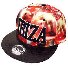 Ibiza Casquette Réglable Rouge planètes Trucker Hat Espace Noir Rouge RRP £ 75.00