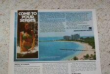 1978 ad - Jamaica Resort Hotels travel SEXY girl bikini swmsuit vacation ADVERT
