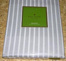 Kate Spade HARBOUR DRIVE PLATINUM Grey & White Stripe Tablecloths or Napkins