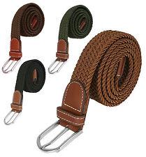 Cintura intrecciata elastica per uomo e donna - Nero Marrone Verde