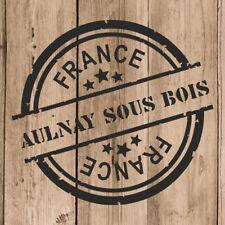 Aulnay Sous Bois Autocollant Mural Vinyle Timbre France 10cm Adhésive Portable