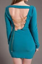 Womens Plus Dress Sexy Cocktail Asymmetrical chain open back Body Con XL 2XL 3XL