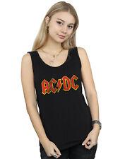 AC/DC Damen Distressed Red Logo Muskelshirt