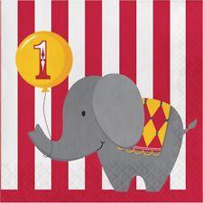 cirque joyeux 1st anniversaire 33cm Serviettes en papier pour fête Tissu 1-96pk