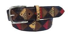 Cintura 4 cm in Pelle Bovina con inserti in pitone o coccodrillo