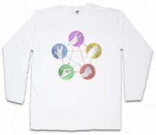 Big Bang White Paper & rock Theory manga larga T-Shirt Sheldon papel Cooper Spock