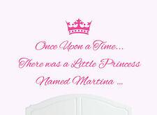 Érase una vez Princesa Martina pegatinas de pared calcomanía bed room Arte girl/baby