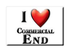 SOUVENIR UK - ENGLAND FRIDGE MAGNET I LOVE COMMERCIAL END (CAMBRIDGESHIRE)