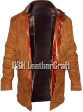 Sheriff Walt Longmire Robert Real Suede Leather Complete Fur Lining Coat Jacket