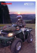KAWASAKI ATV PROSPEKT 2009 brochure KVF 750 650 360 opuscolo Moto Giappone