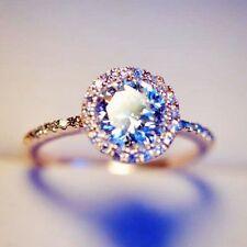 Rose Gold p 2.0ct Round Cut lab Diamond Engagement Anniversary Wedding Halo Ring