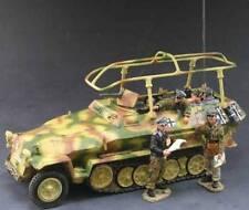 KING & COUNTRY WW2 GERMAN ARMY WS077SL PANZER MEYER COMMAND VEHICLE SET MIB