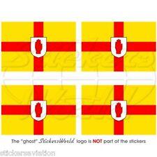 ULSTER Provinz Flagge IRLAND Fahne IRISCHEN 50mm Vinyl Sticker Aufkleber x4