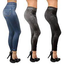 Slim Damen Jeans Jeansoptik Stretch Leggings Jeggings 3er Pack
