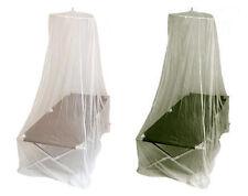 Moskitonetz für 1 Feldbett Insektenschutz Mückenschutz Fliegengitter Oliv Weiß