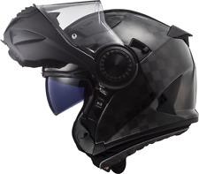 LS2 FF313 VORTEX CARBON FIBRE MODULAR FLIP FRONT MOTORCYCLE HELMET GLOSS CARBON