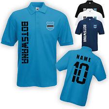Botsuana Polo-Shirt camiseta con nombre & número S M L XL XXL