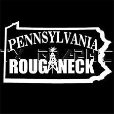 Pennsylvania ROUGHNECK  OIL GAS PIPELINER DECAL VINYL STICKER VEHICLE GRAPHIC