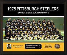 "PITTSBURGH STEELERS Super Bowl X Champs 8x10"" Plaque 1975 Team Photo Lynn Swann"