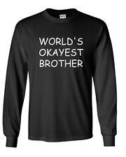 Men's World's Okayest Brother Shirt Funny Gift Idea For Bro Birthday Tee Family