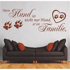 Wandtattoo Spruch Mein Hund ist nicht nur Hund Familie Wandsticker Aufkleber 5