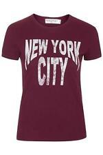 TOPSHOP T.SHIRT TEE marron new york city (tailles XS S M L)