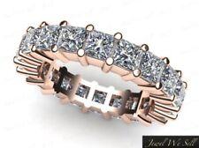 2.70ct Ct Diamante Talla Princesa Compartido Pinza Aniversario Anillo de