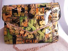 Mel & Davis New York Clutch Abendtasche Unterarmtasche allover bunt bedruckt SO6