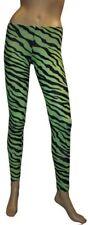 NEUF vert et noir zèbre Legging Imprimé Animal goth punk emo Halloween