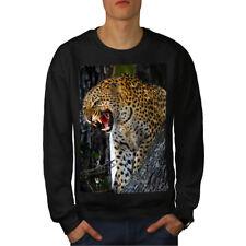 Leopard Photo Wild Animal MEN Sweat-shirt New | wellcoda