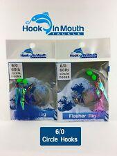 Snapper Rig - Flasher Fishing Rigs Choose Colour & Hook 6/0 Gummy Shark Snatcher