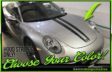2011 & up Porsche 911 Carrera 998 Hood racing stripes GT3 GT2 Style 6
