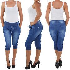 Damen Capri Stiefelhose Hose Jeanshose Hüfthose Bermuda Caprihose 369  5 Farben