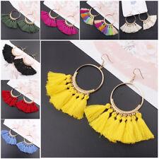 1 Pair Womens Fashion Bohemian Earrings Jewelry Long Tassel Fringe Boho Dangle