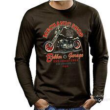 * Vintage Biker Shop Oldschool-Harley Chopper T-Shirt *4239 LS
