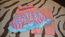 BOUTIQUE RABBIT MOON 3-6 FLORAL DRESS LEGGING SET