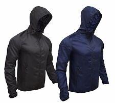Mens Womens Water Repellent Raincoat Jacket Full Sleeve Zip Fastening Hooded Top