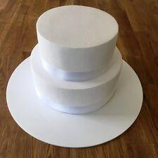 "Round Cake Board, White Gloss Finish 3mm Acrylic, Sizes 7"" 9"" 11"" 13"" 15"" 17"""
