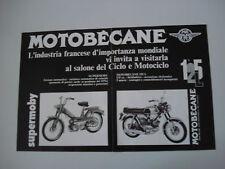 advertising Pubblicità 1971 MOTOBECANE 125 L/SUPERMOBY