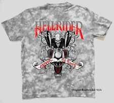 Camiseta Batik gris Vintage Biker HD Chopper&Old Escena escuela Modelo Hellrider