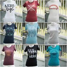 NWT AEROPOSTALE Aero Womens Short Sleeve Crew Neck Logo Graphic T-Shirt Tee XS S