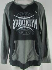 Brooklyn Nets NBA Adidas Women's Gray Long Sleeve Shirt with Pockets