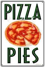 Vintage Retro Pizza Pies Italian Food Metal Sign Shop Diner Cafe Restaurant
