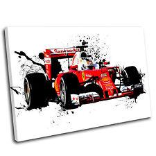 Sebastian Vettel Formula One Canvas Splatter Art Print  - Gallery Grade