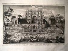 M Roma Villa Pigneto Sacchetti Vasi acquaforte originale