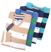 Tommy Hilfiger Men's Classic V-Neck Stripe Long Sleeve Sweater - Free $0 Ship
