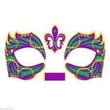 Masque Rage Temp Mardi Gras Mask Tattoo Masquerade Costume Gold Silver Black