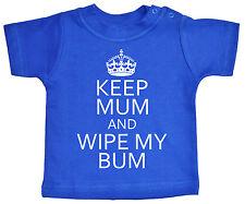"""Gracioso Camiseta para bebé """"Mantenga Mamá & Limpie My Vagabundo"""" Keep Calm"""